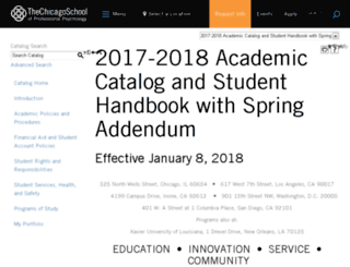catalog.thechicagoschool.edu screenshot