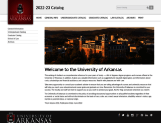 catalog.uark.edu screenshot