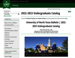 catalog.unt.edu screenshot