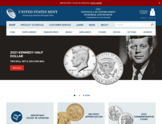 catalog.usmint.gov screenshot