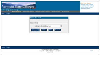 catalog.vsc.edu screenshot
