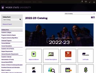 catalog.weber.edu screenshot