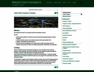 catalog.wright.edu screenshot