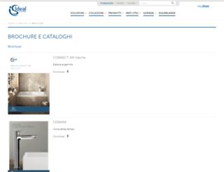 cataloghi.idealstandard.it screenshot