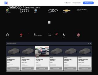 catalogo.deautos.com screenshot