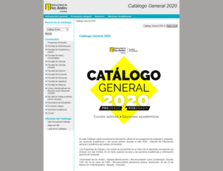 catalogo.uniandes.edu.co screenshot