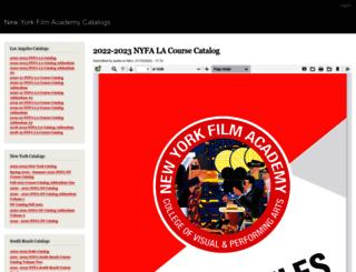 catalogs.nyfa.edu screenshot