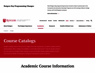 catalogs.rutgers.edu screenshot