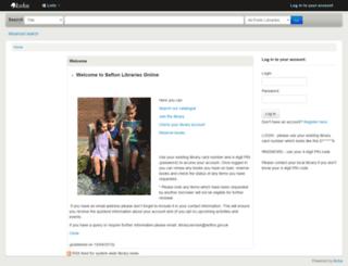 catalogue2.sefton.gov.uk screenshot