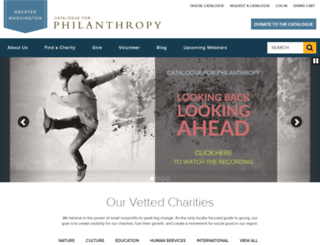 catalogueforphilanthropy-dc.org screenshot