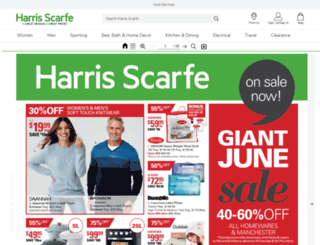 catalogues.harrisscarfe.com.au screenshot