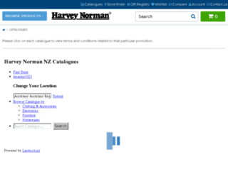 catalogues.harveynorman.co.nz screenshot