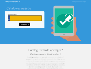 cataloguswaarde-online.nl screenshot