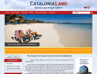catalonialand.com screenshot