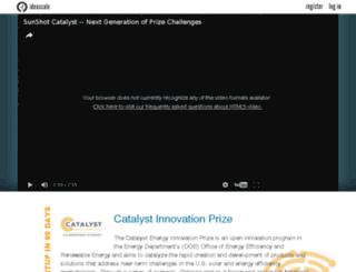 catalyst.energy.gov screenshot