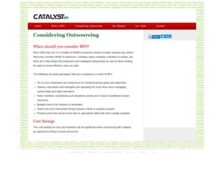 catalystbpo.com screenshot