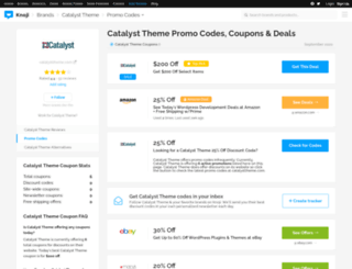 catalysttheme.bluepromocode.com screenshot