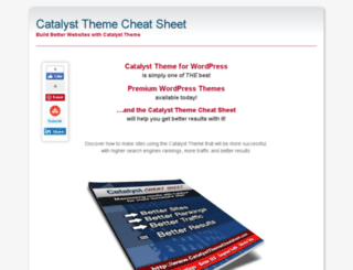 catalystthemecheatsheet.com screenshot