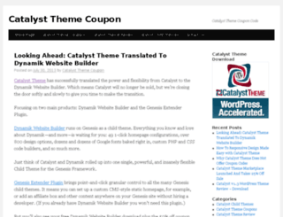 catalystthemecouponcode.com screenshot