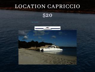 catamarancapriccio.com screenshot