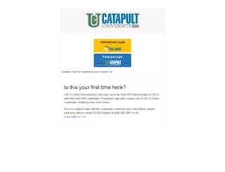 catapultuniversity.ecrsoft.com screenshot