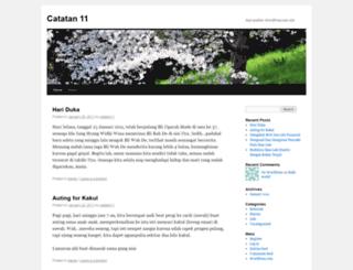 catatan11.wordpress.com screenshot