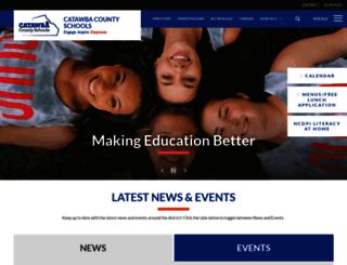 catawbaschools.schoolwires.net screenshot