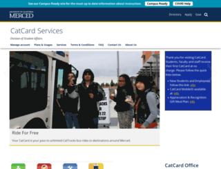 catcard.ucmerced.edu screenshot