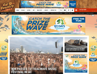 catcountry1073.com screenshot