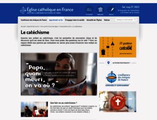 catechisme.catholique.fr screenshot
