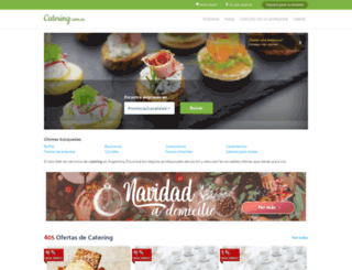 catering.com.ar screenshot