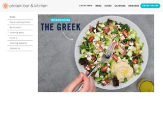 catering.theproteinbar.com screenshot