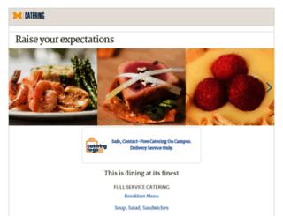catering.umich.edu screenshot
