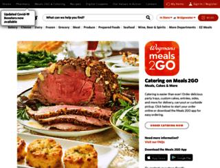 catering.wegmans.com screenshot
