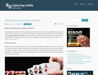 cateringvalle.com screenshot
