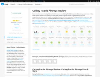 cathaypacificairways.knoji.com screenshot