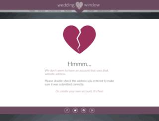 catherineandben.weddingwindow.com screenshot