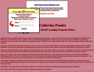 catherineponder.wwwhubs.com screenshot
