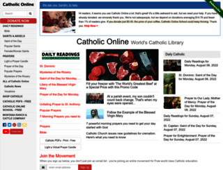 catholic.org screenshot