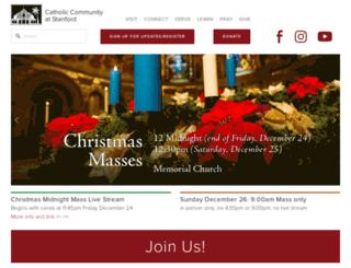 catholic.stanford.edu screenshot
