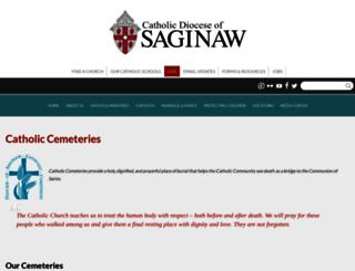 catholiccemeteriessaginaw.com screenshot