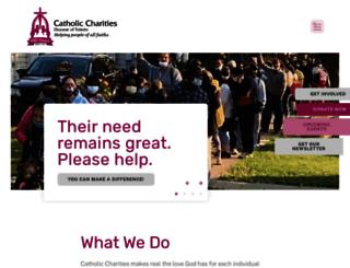 catholiccharitiesnwo.org screenshot