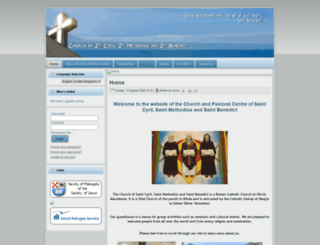 catholicchurchohrid.org screenshot
