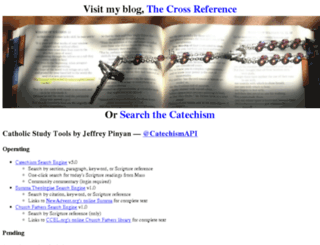 catholiccrossreference.com screenshot