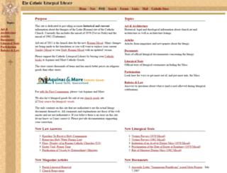 catholicliturgy.com screenshot