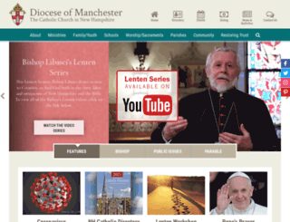 catholicnh.org screenshot