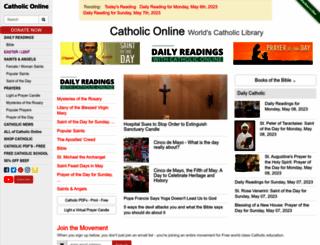 catholiconline.com screenshot
