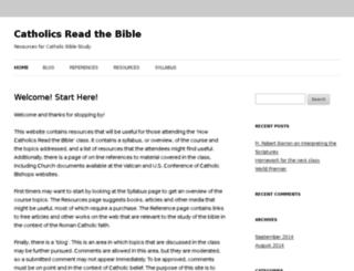 catholicsreadthebible.info screenshot