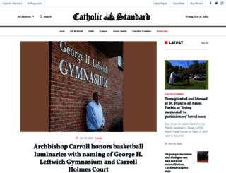 catholicstandard.com screenshot