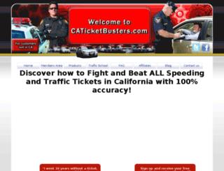 caticketbusters.com screenshot